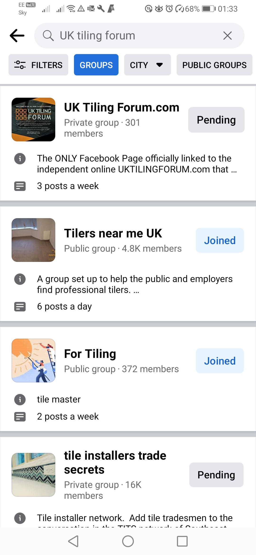 UK Tiling Forum